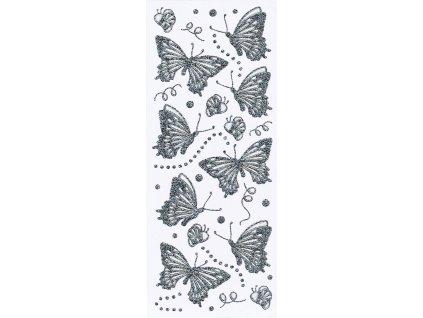 Nálepky do fotoalba Motýlci stříbrní
