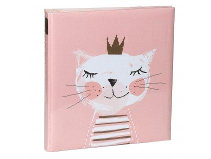 Dětské fotoalbum na růžky 60 kočička růžová