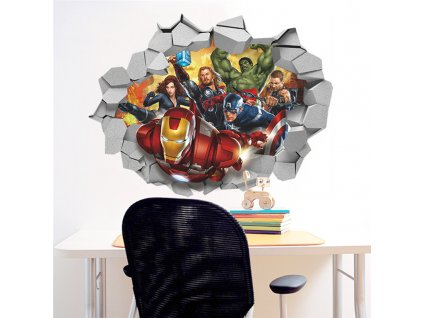 samolepky na zed avengers zed 2