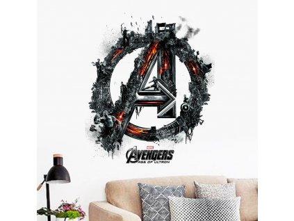 samolepky na zed avengers znak 3