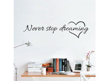 samolepky na zed never stop dreaming 5
