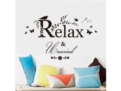 samolepky na zed relax unwind 3