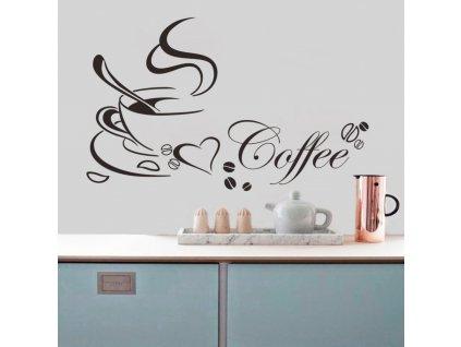 samolepky na zed coffee