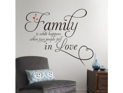 samolepky na zed family love 3