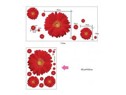 samolepky na zed kvety 6