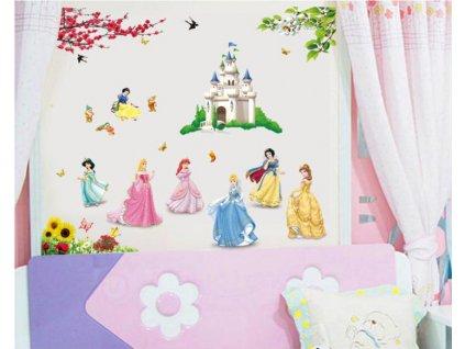 samolepky na zed princess zamek 2