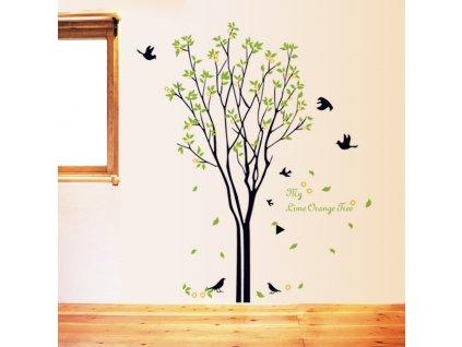 samolepka na zed strom s ptacky 3