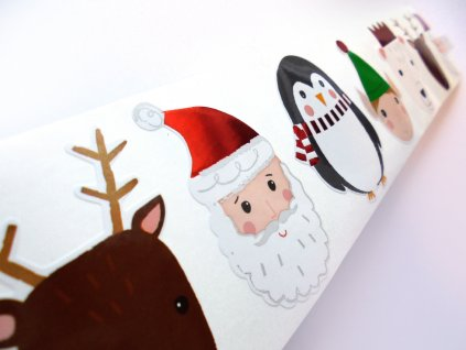 Nálepky do fotoalba vánoční postavičky