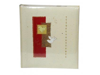 Fotoalbum na růžky 28x30cm 60 stran - HOLUBICE béžové
