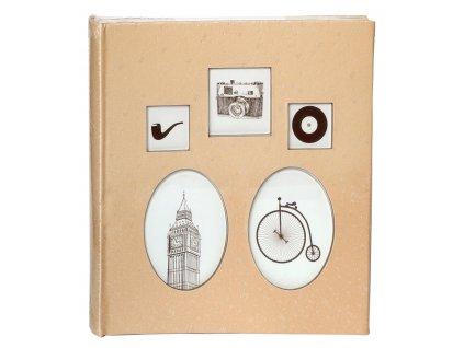 Svatební fotoalbum na růžky 80 stran - REMINDERS s okénky