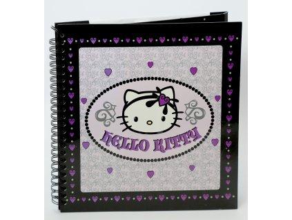 Scrapbook Fotoalbum na spirále pro tvořivou úpravu HELLO KITTY