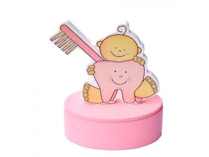 Fotorámeček MIMI krabička na zoubky růžová