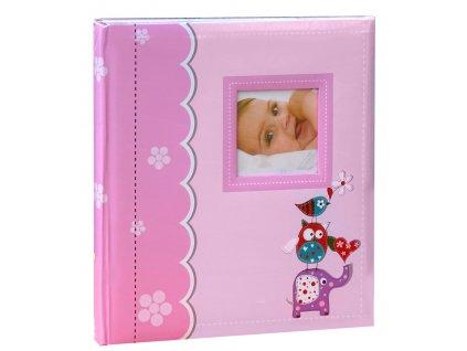 Dětské fotoalbum na růžky 60 stran ZVÍŘÁTKA růžové
