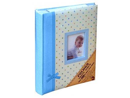 Fotoalbum 10x15/200 - PUNTÍKY modré popis