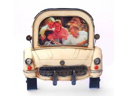 Rámeček Fun Frame - RETRO AUTO krémové 10x15cm