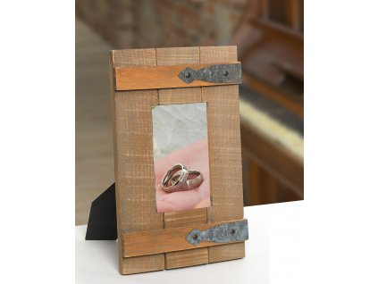Fotorámeček dřevěný okénko Ettore 13x18