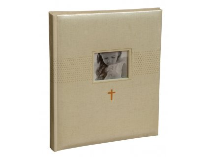 Fotoalbum na růžky 22x27 cm 40 stran KŘTINY béžové