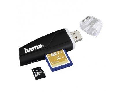 Čtečka karet SD/microSD černá