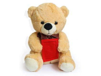 Medvídek plyšový s rámečkem pro fotografii