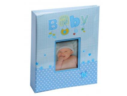 Fotoalbum 10x15/200 - BABY modrý s popisem