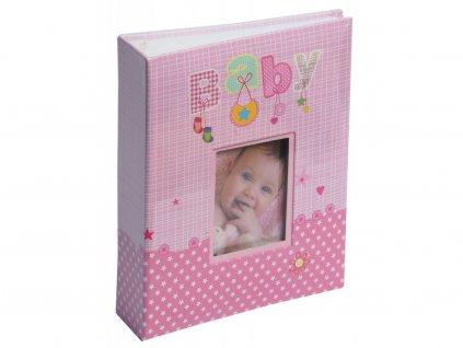 Fotoalbum 10x15/200 - BABY růžový s popisem