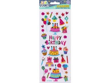 Nálepky do fotoalba narozeniny - dort