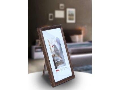 Fotorámeček dřevěný 10x15 TRAVELLER - hnědý