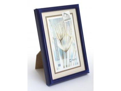 Fotorámeček 10x15 plast s plexi modrý