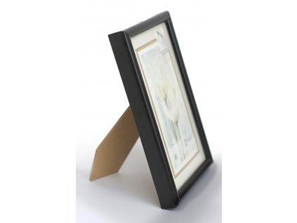 Fotorámeček 10x15 plast s plexi černý