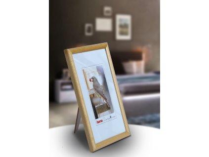 Fotorámeček dřevěný 10x15 TRAVELLER - přírodní