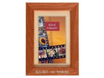 Fotorámeček 24x30 dřevěný CODEX - SLS 01 sv. hnědý