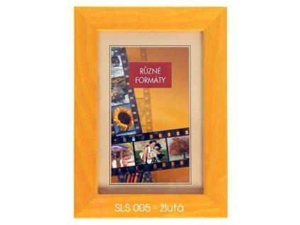 Fotorámeček 24x30 dřevěný CODEX - SLS 05 žlutý