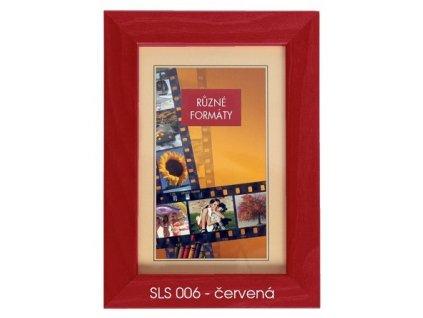 Fotorámeček 24x30 dřevěný CODEX - SLS 06 červený