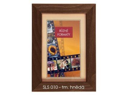 Fotorámeček 24x30 dřevěný CODEX - SLS 10 tm. hnědý