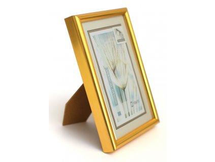 Fotorámeček 15x21 plast s plexi zlatý