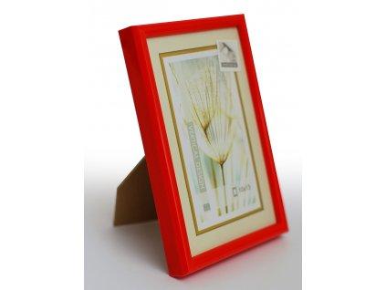 Fotorámeček 15x21 plast s plexi červený