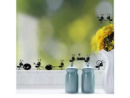 Samolepky na stěnu nebo sklo MRAVENCI 6x54 cm