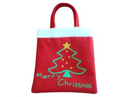 DÁRKOVÁ TAŠKA VÁNOČNÍ textil - Merry Christmas