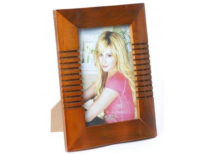 Fotorámeček dřevěný 10x15 - FRÉZOVANÝ 2