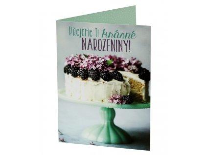 Přání PŘEJI KRÁSNÉ NAROZENINY - dort