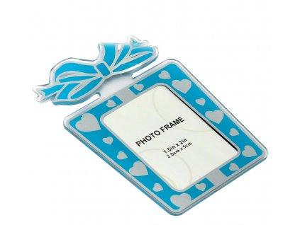 Fotorámeček 4,8x5 cm akrylový - dárek modrý