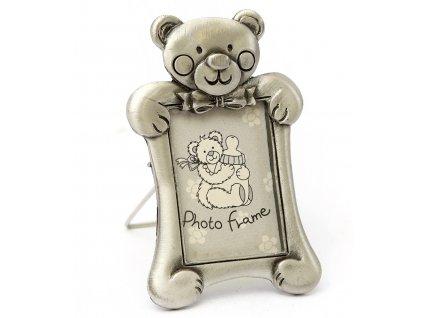 Fotorámeček mini cínový medvídek