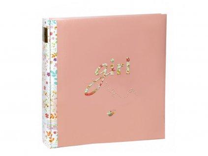 Dětské fotoalbum na růžky 60 GIRL růžový