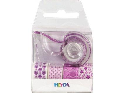 Lepící páska dekorační  - holčičí růžové