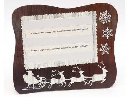 Fotorámeček 10x15 PVC s vánočním potiskem šířka 11