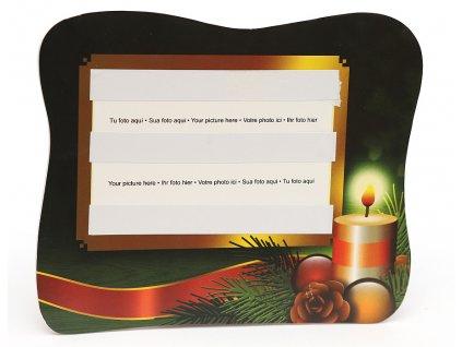 Fotorámeček 10x15 PVC s vánočním potiskem šířka 13