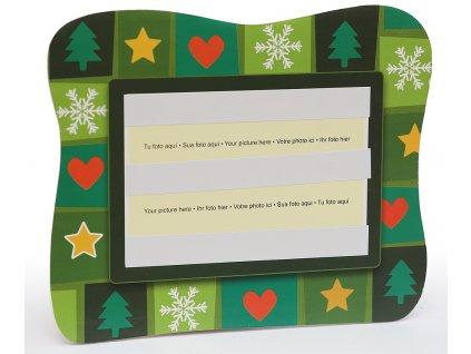 Fotorámeček 10x15 PVC s vánočním potiskem šířka 15