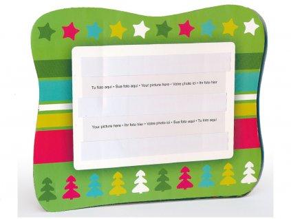Fotorámeček 10x15 PVC s vánočním potiskem šířka 17