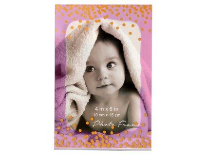 Fotorámeček 10x15cm akrylový - KPH MAGNET růžový
