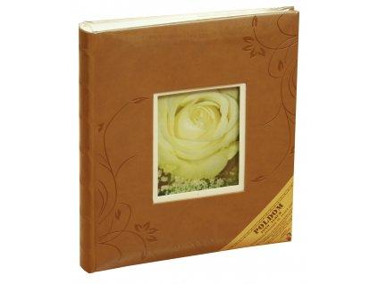 Fotoalbum na růžky 24X29 cm 60 stran KELLY hnědé - SLEVA